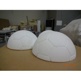 Medio Balón Fútbol 45cm CNC