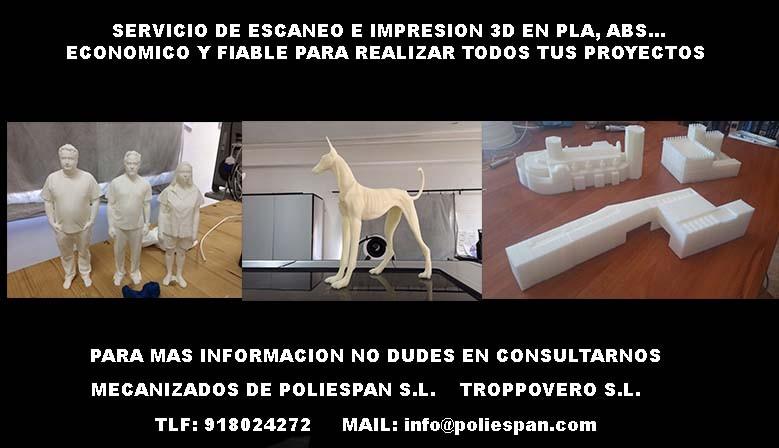 ESCANEOS EN 3D E IMPRESION 3D