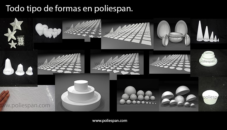 Todo tipo de formas en poliespan